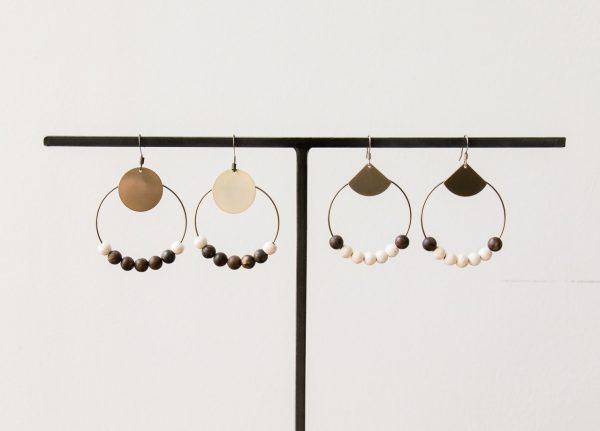 Boucles d'oreilles - perles en bois-Maison Mathûvû