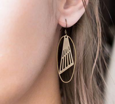 Boucles d'oreilles Ovale et Triangle- Maison Mathûvû