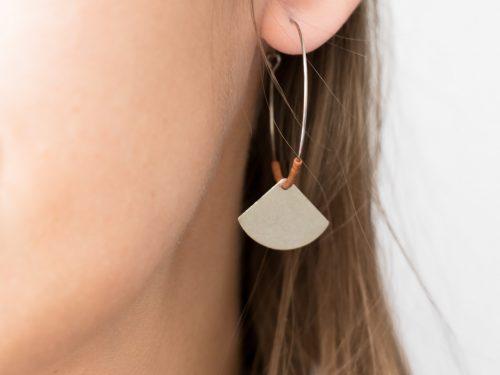 Boucles d'oreilles Éventail #2 -Maison Mathûvû