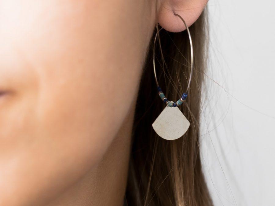 Boucles d'oreilles Éventail - multicolore - Maison Mathûvû