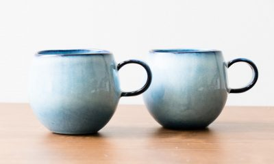 Tasse ronde bleue petit modèle Bloomingville - Maison Mathuvu