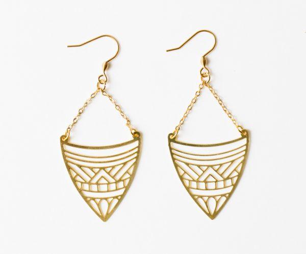 Boucles d'oreilles Amérindienne - Jisalée -Maison Mathûvû