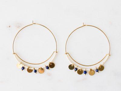 Boucles d'oreilles Salima Blanches - Gauhart -Maison Mathûvû