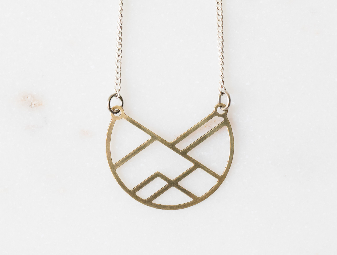 Collier disque graphic - Maison Mathûvû