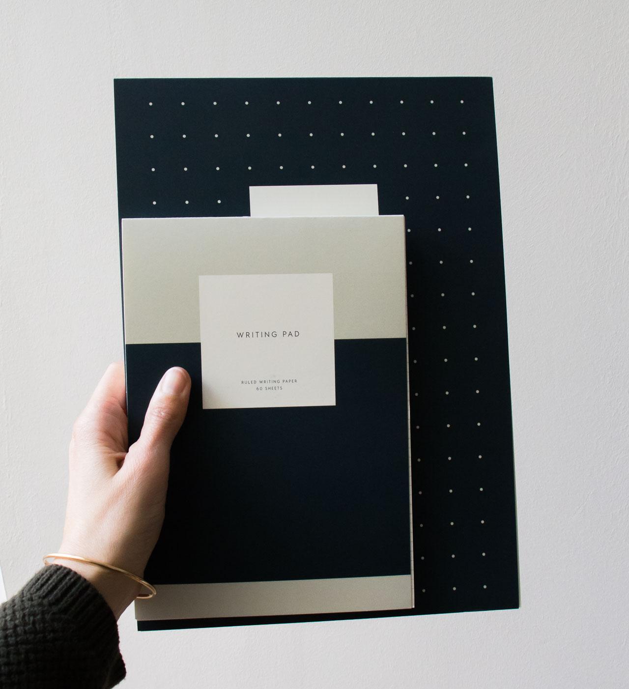 Bloc-note bleu minéral - Kartotek- Maison Mathûvû