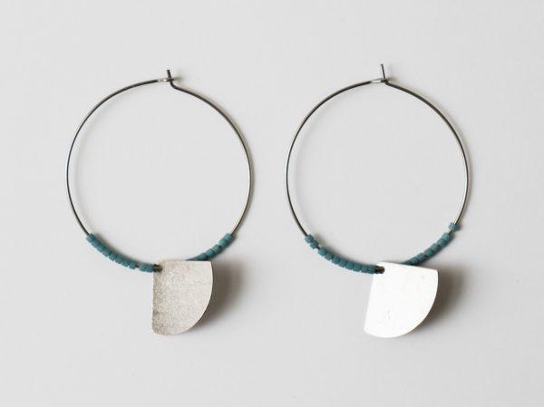 Boucles d'oreilles Éventail #1 collection Maison Mathûvû