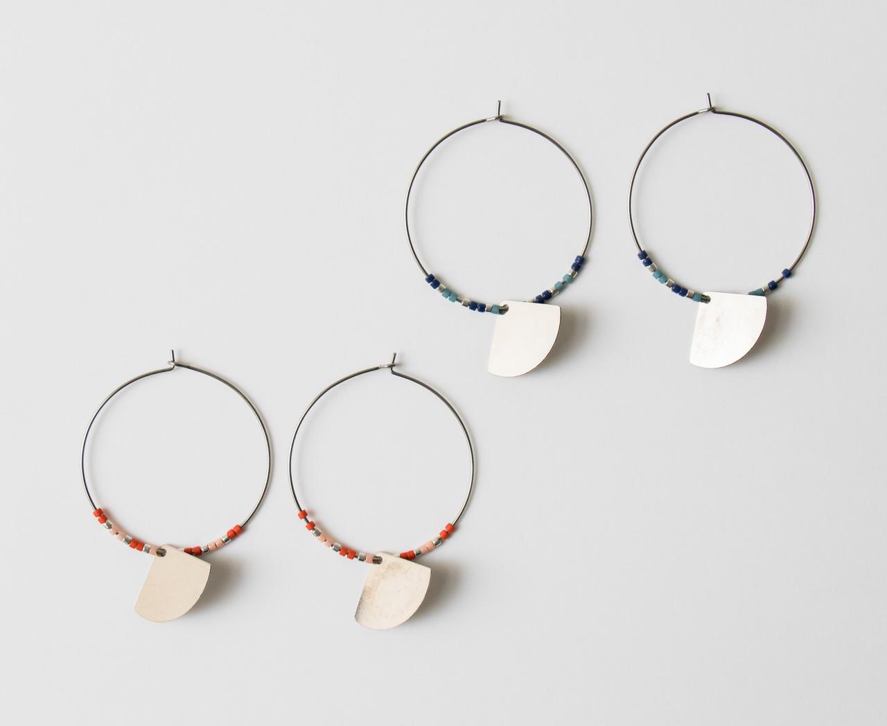 Boucles d'oreilles Éventail #2 collection Maison Mathûvû