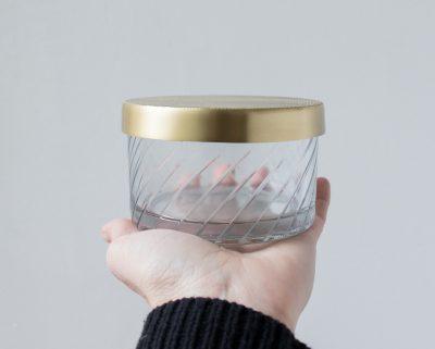 Boîte en verre - Ronde - Grand modèle - Nkuku -Maison Mathûvû