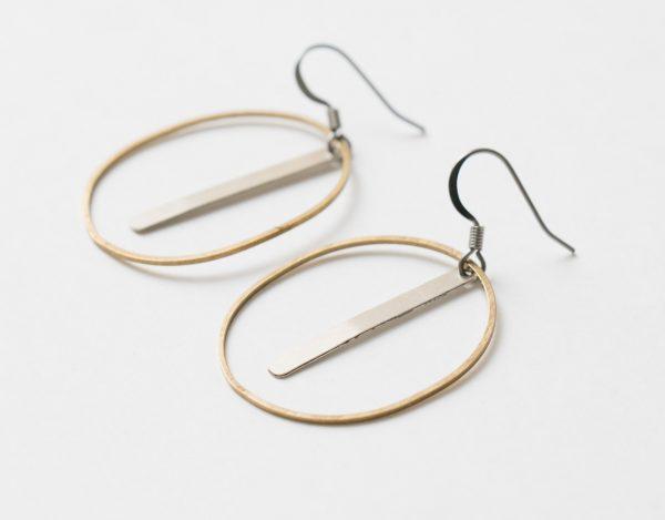Boucles d'oreilles Ovale- Maison Mathûvû