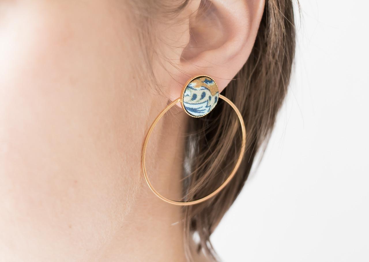 Boucles d'oreilles Céleste - Barbarisme -Maison Mathûvû