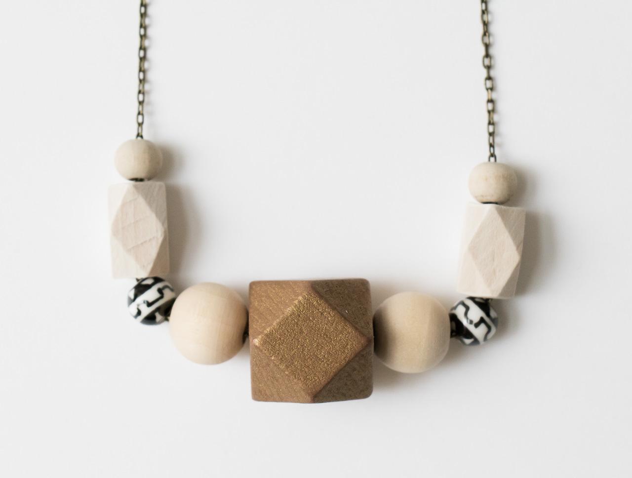 Sautoir perle bois Maison Mathuvu