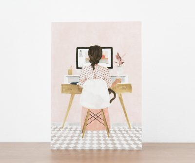 Carte Girl boss- All the way to say - Maison Mathûvû