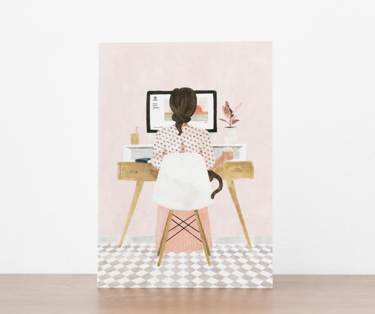 Carte Girl boss- All the way to say - Maison Mathûvû
