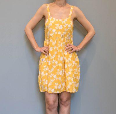 Robe à fleurs jaune Compania Fantastica - Maison Mathuvu