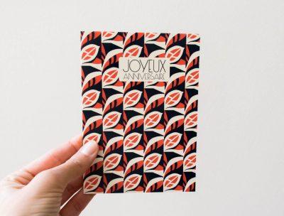 Carte rouge et bleu Pascale Editions - Maison Mathuvu