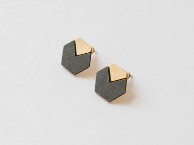 Boucles d'oreilles cube Shlomit ofir - Maison Mathuvu