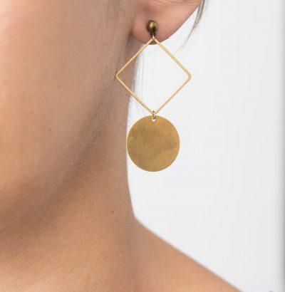 Boucles d'oreilles géométrique - Maison Mathûvû
