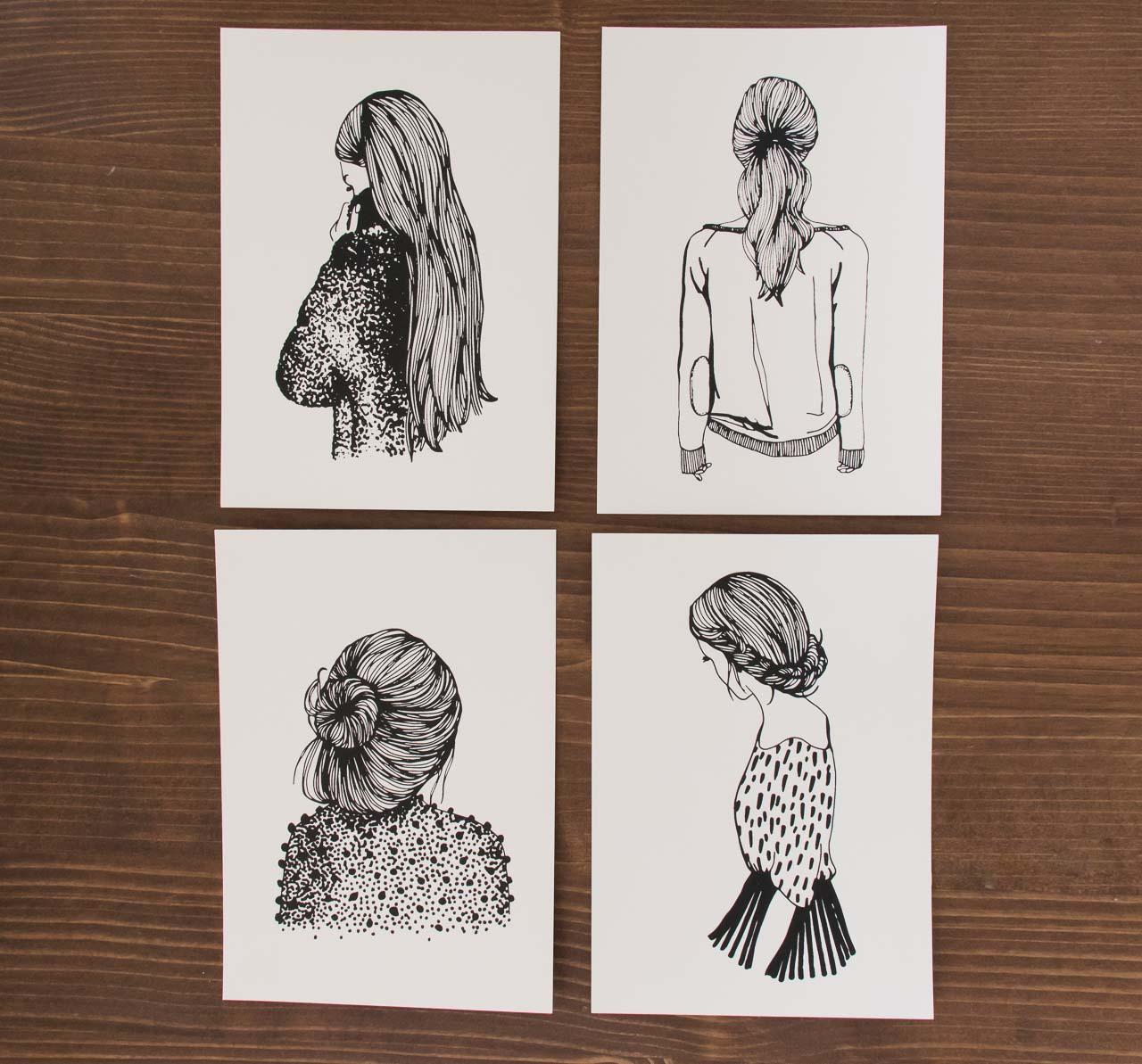 Cartes - Coiffures de Femmes - Rugiada Petrelli -Maison Mathûvû