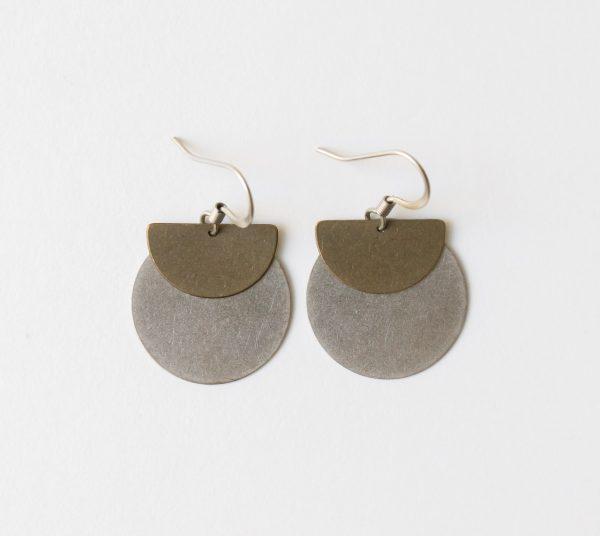 Boucles d'oreilles - Rond demi-cercle de la collection Maison Mathûvû