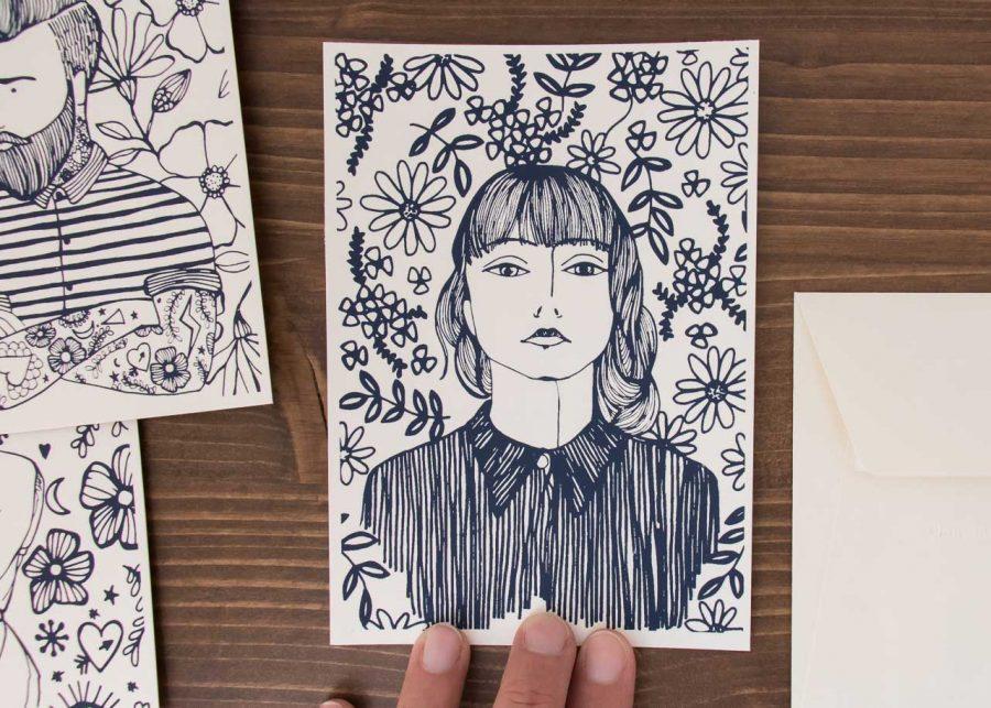 Cartes - Portrait - Rugia Petrelli -Maison Mathûvû