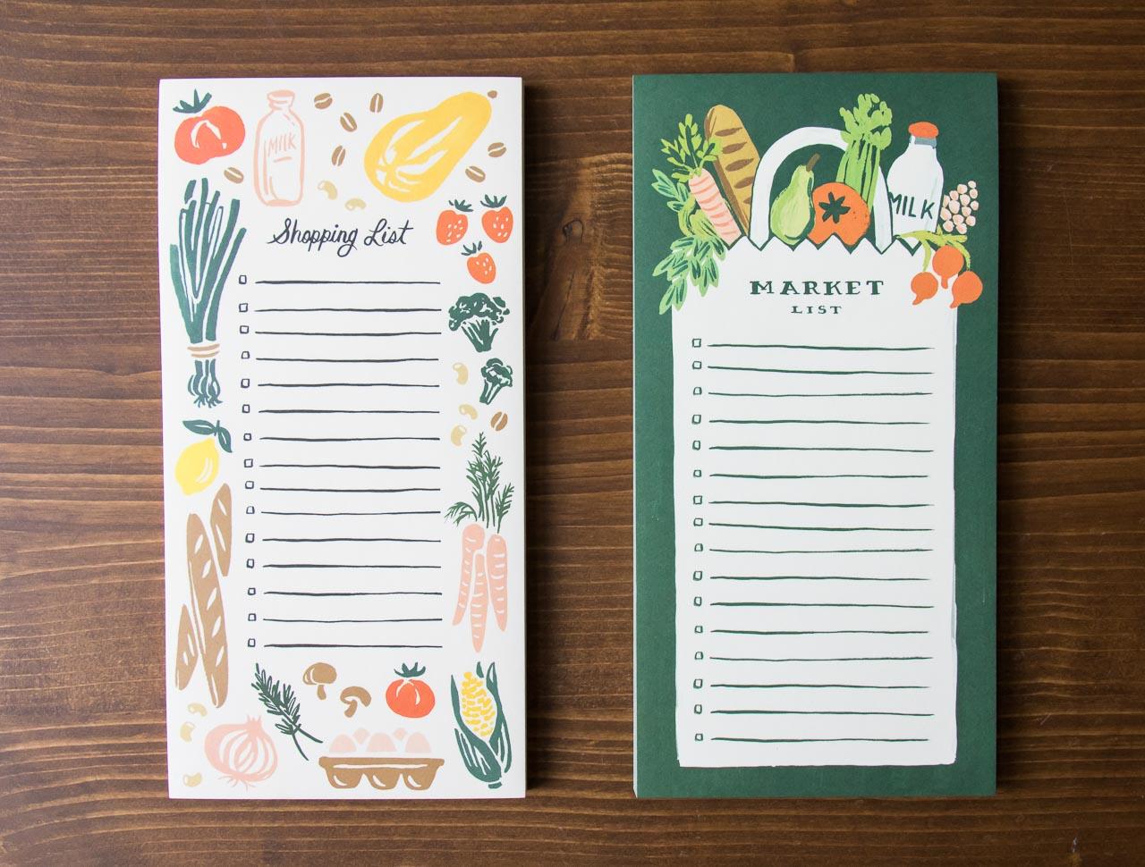 Market list Fruit et légume - Rifle Paper co -Maison Mathûvû