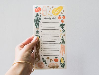 Bloc-notes fruits et légumes - Rifle Paper co -Maison Mathûvû