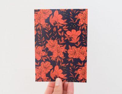 Carte fleur rouge Pascale Editions - Maison Mathûvû