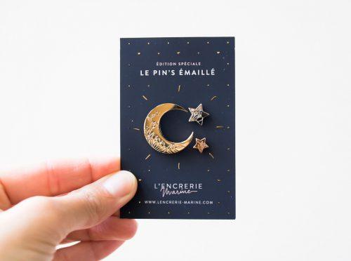 Pin's Lune - L'encrerie Marine -Maison Mathûvû