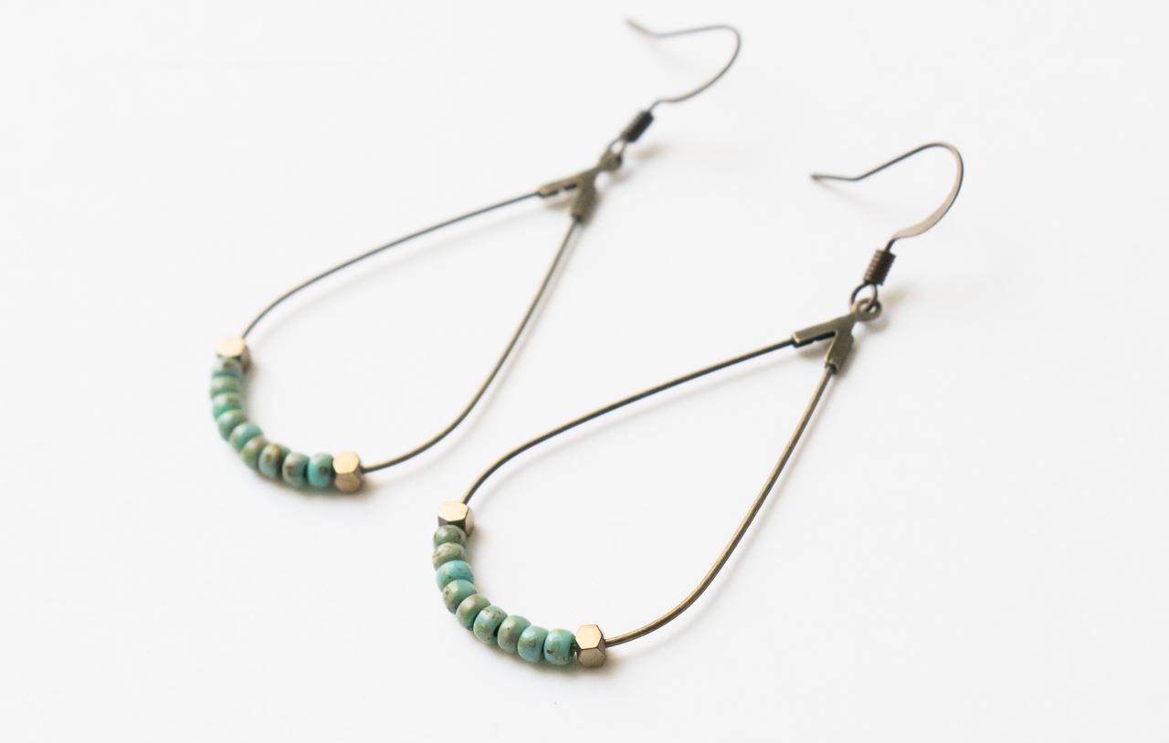 Boucles d'oreilles turquoise Maison Mathuvu