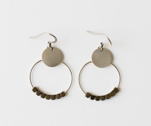 Boucles d'oreilles hématite Maison Mathuvu