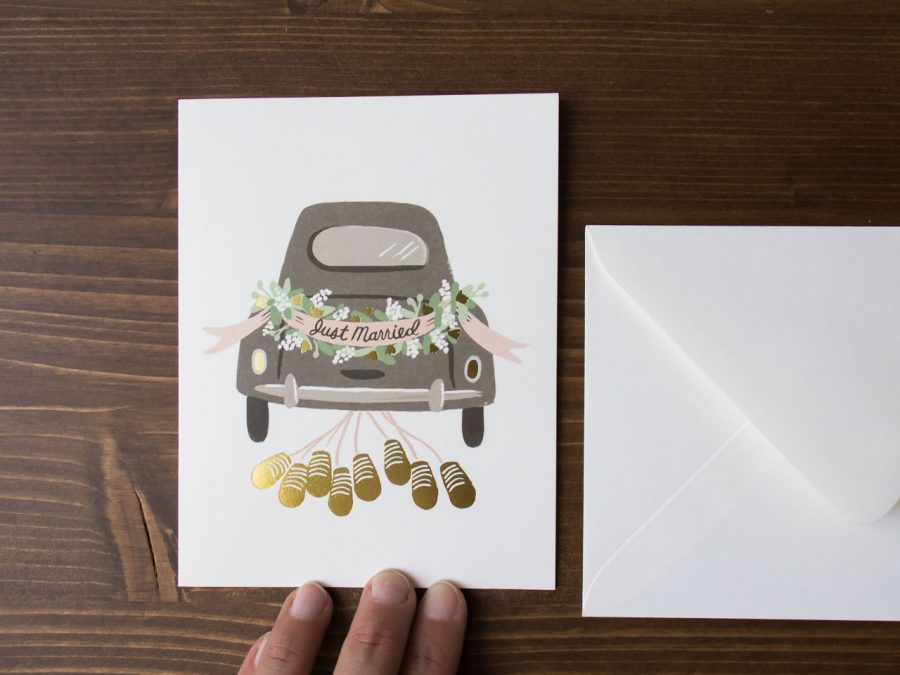 Carte Just Married - Rifle Paper Co -Maison Mathûvû