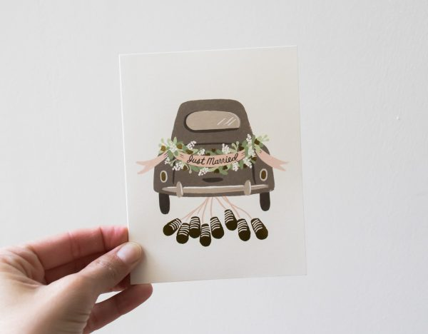 Carte Just Married - Rifle Paper Co -Maison Mathûvû