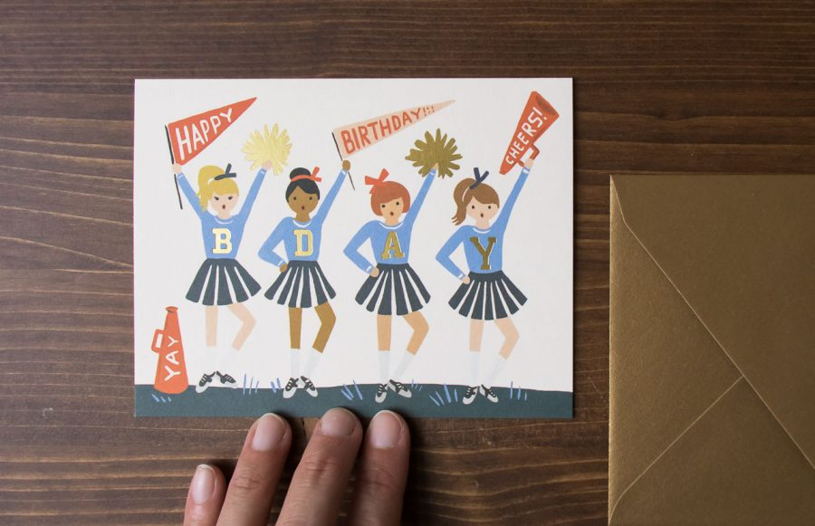 Carte Cheerleader - Rifle Paper Co -Maison Mathûvû