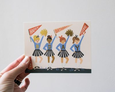 Carte Cheerleader - Rifle Paper Co -Maison Mathûvû