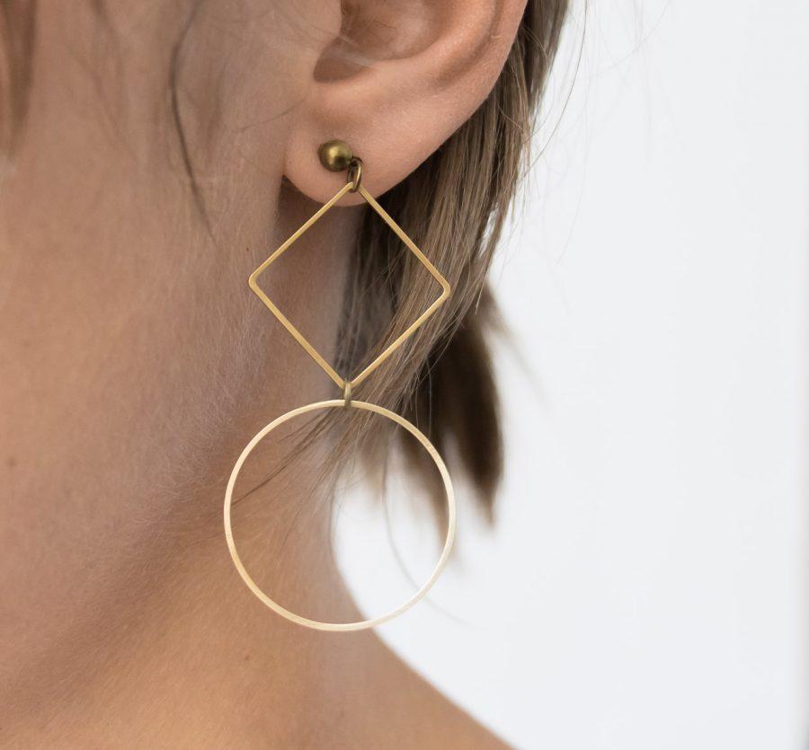 Boucles d'oreilles graphic Maison Mathuvu