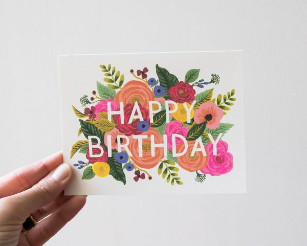 Carte Flower birthday - Rifle Paper Co -Maison Mathûvû