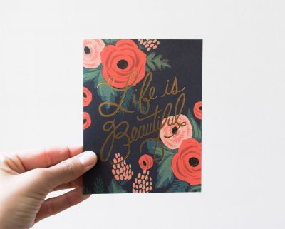 Carte Beautiful - Rifle Paper Co -Maison Mathûvû