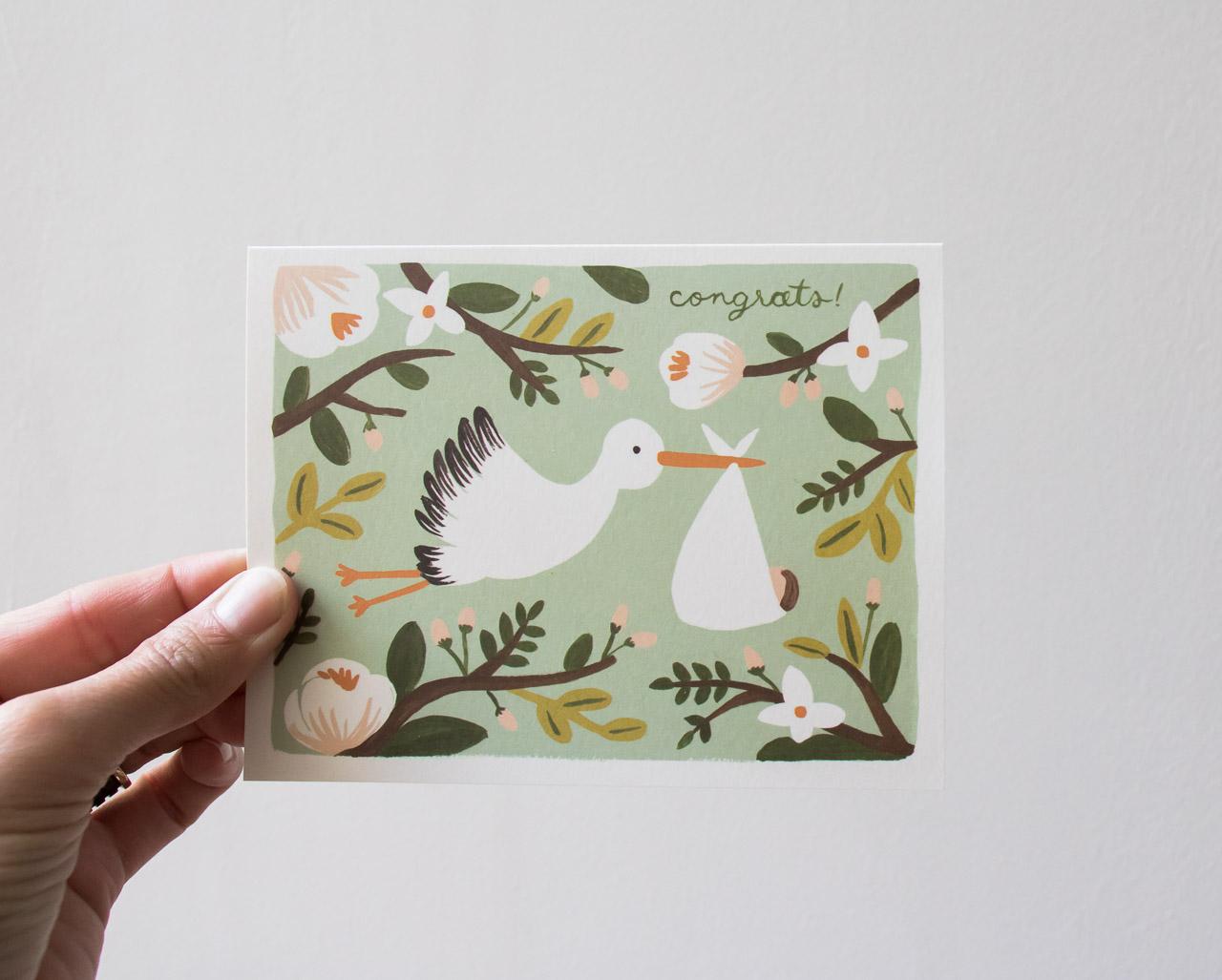 Carte Cigogne - Rifle Paper Co -Maison Mathûvû