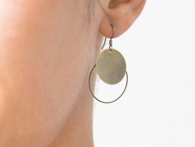Boucles d'oreilles double cercle Maison Mathuvu