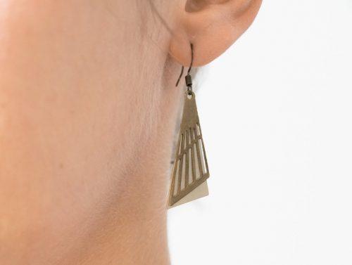 Boucles d'oreilles double triangle Maison Mathuvu