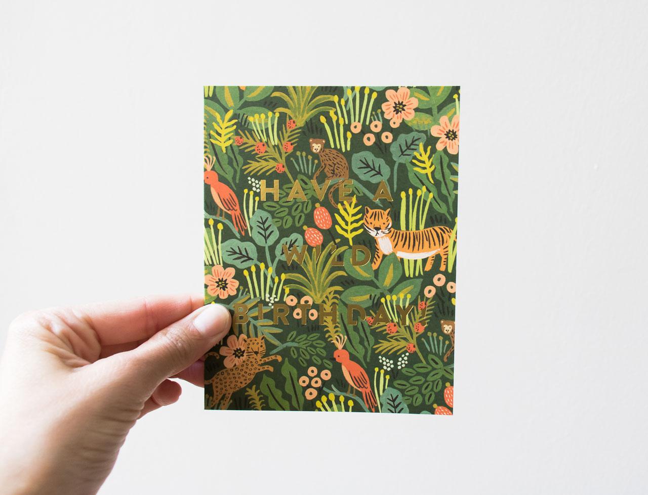 Carte Wild Birthday - Rifle Paper Co -Maison Mathûvû