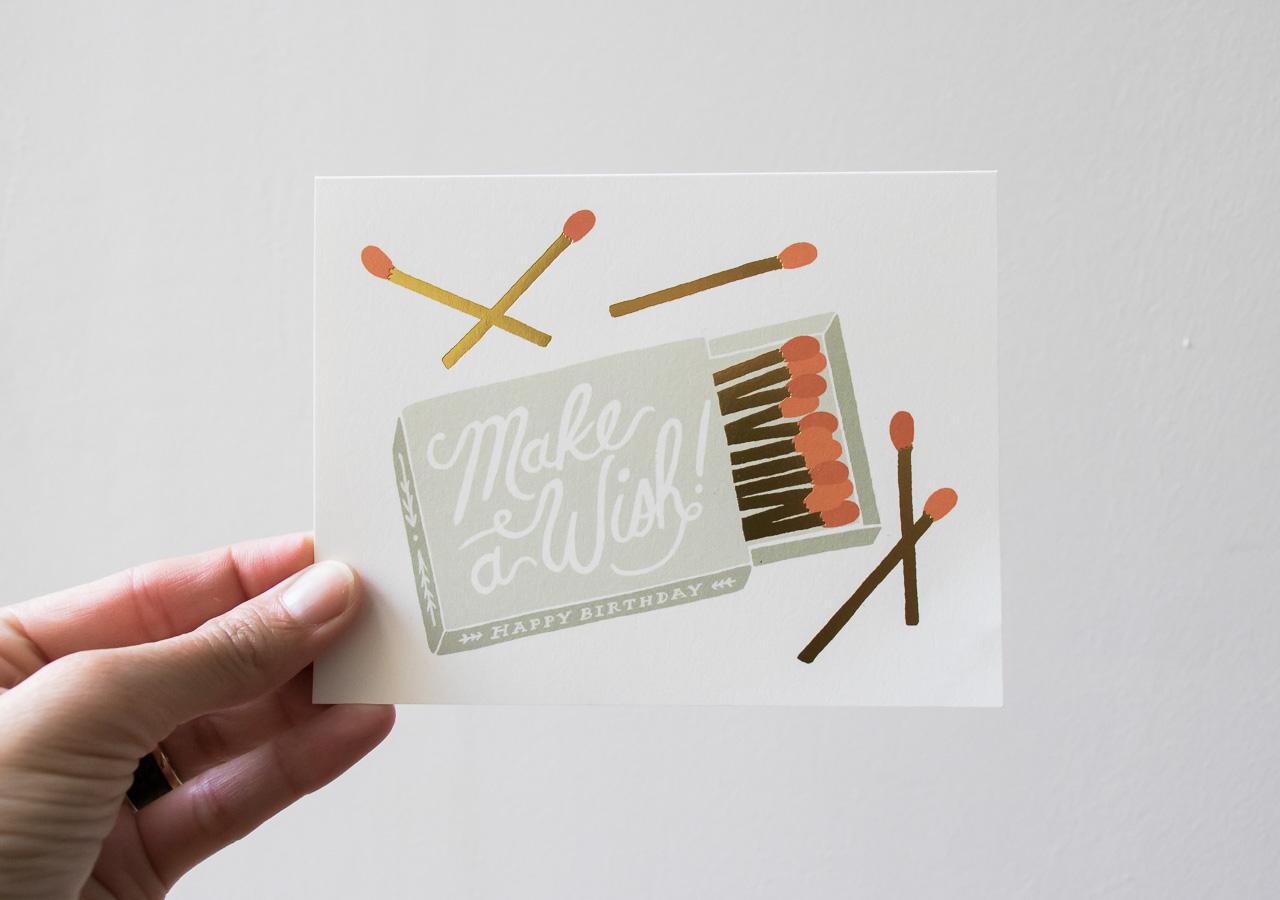 Carte Make à wish - Rifle Paper Co -Maison Mathûvû