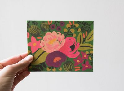 Carte Pivoine - Rifle Paper Co -Maison Mathûvû