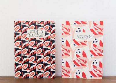 Carte rouge et bleu Pasacle Editions - Maison Mathuvu