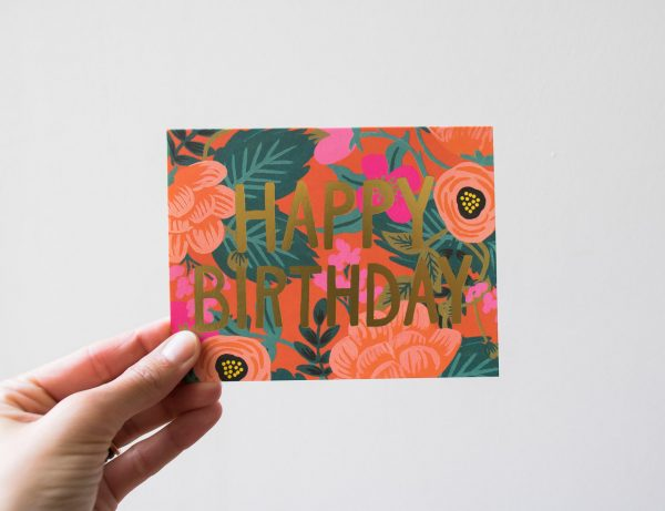 Carte Rose Birthday - Rifle Paper Co -Maison Mathûvû