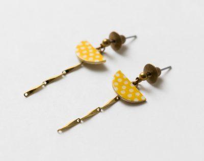 Boucles d'oreilles demi-cercle japonais Lilifabrique - Maison Mathuvu