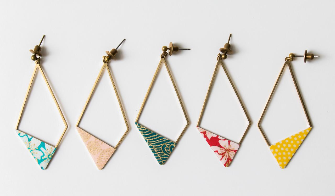 Boucles d'oreilles losange japonais Lilifabrique - Maison Mathuvu
