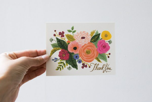 Carte - Thank you- Rifle Paper Co- Maison Mathûvû