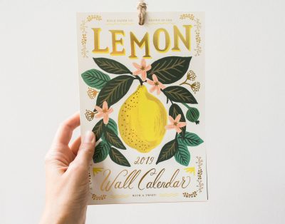 Calendrier Lemon - 2019 - Rile Paper Co -Maison Mathûvû