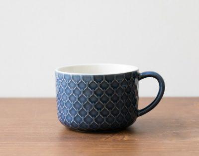 Tasse bleue écaille Bloomingville - Maison Mathuvu